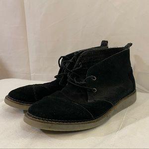 Toms Shoes Black Canvas Boot 9.5 Chukka Desert